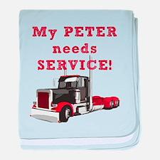 My PETER needs SERVICE! baby blanket