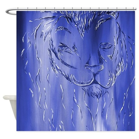 Animal Navy Blue Shower Curtain By Markmoore