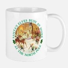 Santa's Elves & Reindeer at the North Pole Mug
