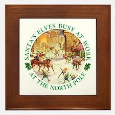 Santa's Elves & Reindeer at the North Pole Framed