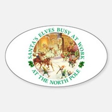 Santa's Elves & Reindeer at the North Pole Decal