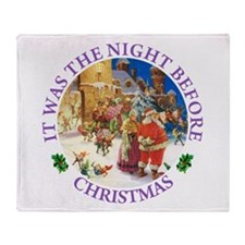 Christmas Eve at the North Pole Throw Blanket