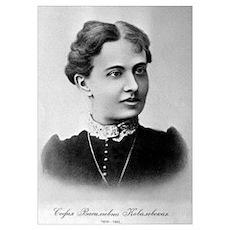 Sofia Kovalevskaya, Russian mathematician Poster