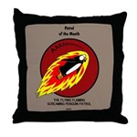 KNOTS Retro Patrol Patch Throw Pillow
