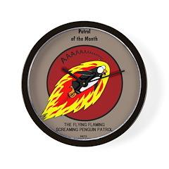 KNOTS Retro Patrol Patch Wall Clock