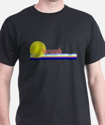 Savanah Black T-Shirt