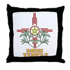 Sage Temple Throw Pillow