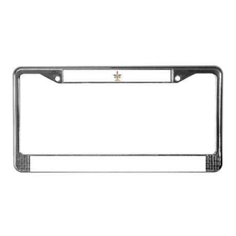 Sage Temple License Plate Frame
