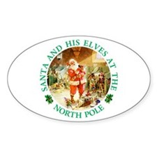 Santa & His Elves at the North Pole Stable Decal