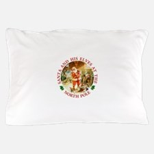 Santa & His Elves at the North Pole Stable Pillow
