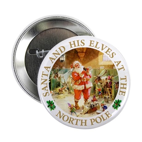 "Santa & His Elves at the North Pole Stable 2.25"" B"