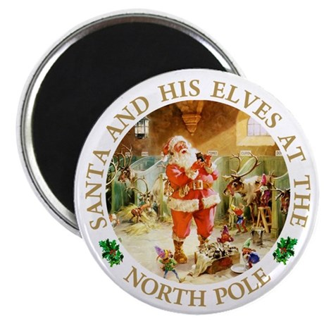 "Santa & His Elves at the North Pole Stable 2.25"" M"