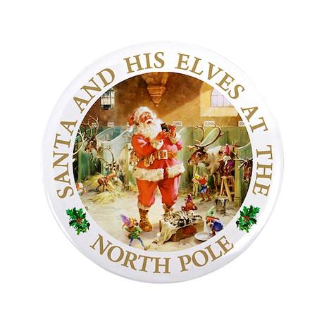 "Santa & His Elves at the North Pole Stable 3.5"" Bu"
