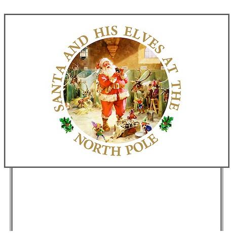 Santa & His Elves at the North Pole Stable Yard Si