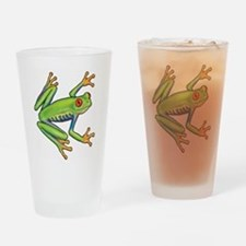 Green Frog Drinking Glass