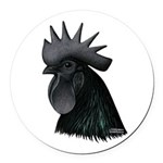 Ayam Ceymani Rooster Round Car Magnet