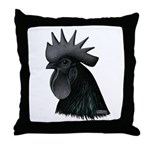 Ayam Ceymani Rooster Throw Pillow