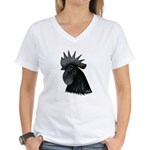 Ayam Ceymani Rooster Women's V-Neck T-Shirt