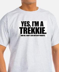 Yes I'm a Trekkie - Ash Grey T-Shirt