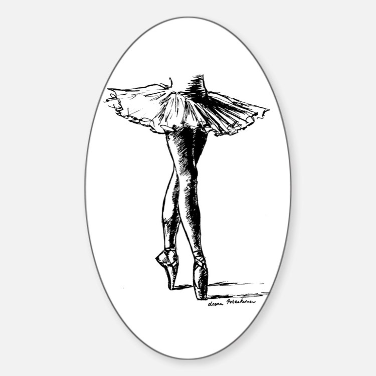 Ballet Sticker (Oval)