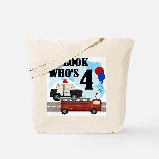 Everyday Heroes 4th Birthday Tote Bag