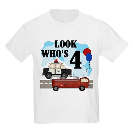 Everyday Heroes 4th Birthday Kids T-Shirt