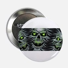 "Green-Eyed Skulls 2.25"" Button"