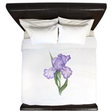 The Purple Iris King Duvet