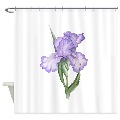 The Purple Iris Shower Curtain By FibroFriends