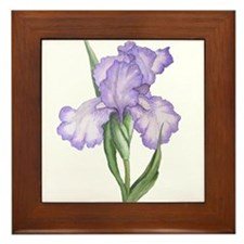 The Purple Iris Framed Tile