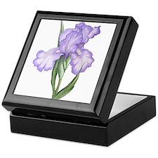 The Purple Iris Keepsake Box
