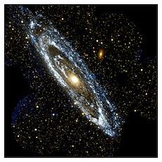 Andromeda Galaxy, UV image Poster