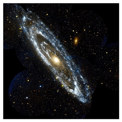 Andromeda Galaxy, UV image Canvas Art