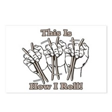 Bones How I Roll Postcards (Package of 8)