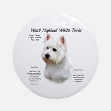 West Highland White Terrier Ornament (Round)