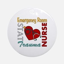 ER Nurse Ornament (Round)