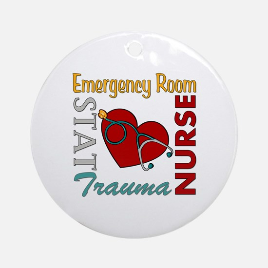 ER Nurse Ornament (Round)