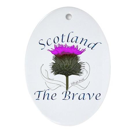 Scotland The Brave Thistle Ornament (Oval)