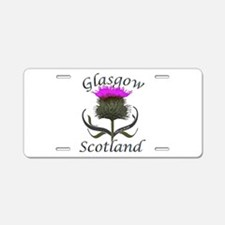 Glasgow Scotland Thistle Aluminum License Plate