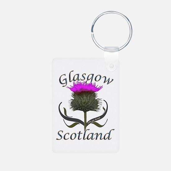 Glasgow Scotland Thistle Keychains