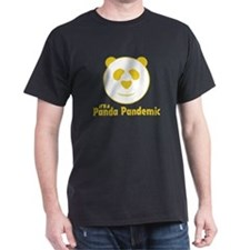 Panda Pandemic Black T-Shirt