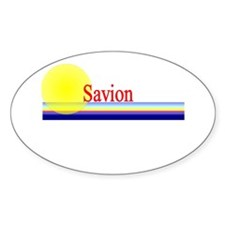 Savion Oval Bumper Stickers