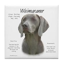 Weimaraner Tile Coaster