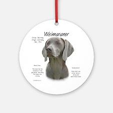 Weimaraner  Ornament (Round)