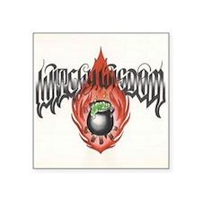 """Witchy Wisdom Logo Square Sticker 3"""" x 3"""""""