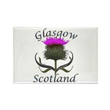Glasgow Scotland Thistl Rectangle Magnet (10 pack)