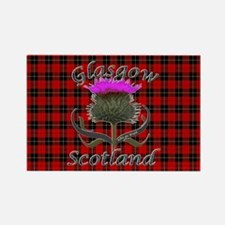 Glasgow Scotland Thistle Rectangle Magnet