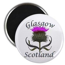 Glasgow Scotland Thistle Magnet