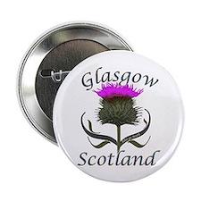 """Glasgow Scotland Thistle 2.25"""" Button"""