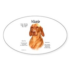 Vizsla Oval Decal